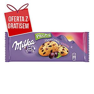 Ciastka MILKA Pieguski, czekolada i rodzynki, 135 g