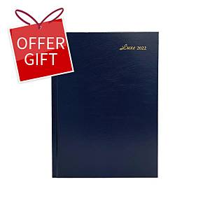 Luxe 51C Diary One Day/Page A5 Blue