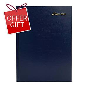 Luxe 41C Diary One Day/Page A4 Blue