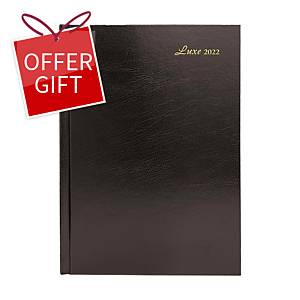 Luxe 41C Diary One Day/Page A4 Black