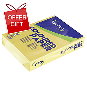 LYRECO PAPER A4 80GSM DAFFODIL - REAM OF 500 SHEETS
