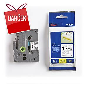TZe-S pásky Brother, čierna / biela, 12mm x 8m
