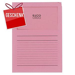 Organisationsmappe Elco Ordo Classico 29489, bedruckt, rosa, Packung à 100 Stück