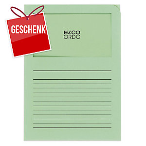 Organisationsmappe Elco Ordo Classico 29489, bedruckt, grün, Packung à 100 Stück