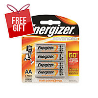 ENERGIZER ADVANCED AA BATTERY - PACK OF 4