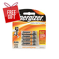 ENERGIZER ADVANCED AAA BATTERY - PACK OF 4