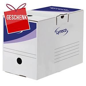 Archivschachtel Lyreco, Innenmasse B197 x T326 x H246 mm, Packung à 20 Stück