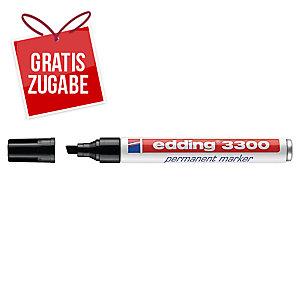 Permanentmarker edding 3300, Keilspitze, Strichstärke: 1-5mm, schwarz