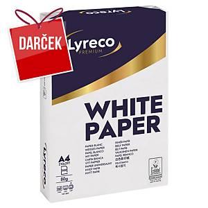 Papier Lyreco Premium, A4 80 g/m² - biely, 2500 listov