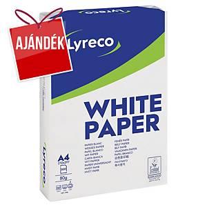Lyreco irodai papír, A4, 80 g/m², fehér, 5 x 500 lap