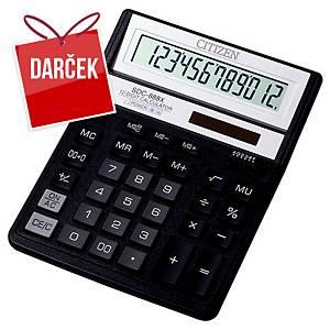 Stolová kalkulačka Citizen SDC888XBK, 12-miestny displej, čierna