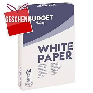 Lyreco Budget Papier, A4, 80 g/m², weiß, 5 x 500 Blatt