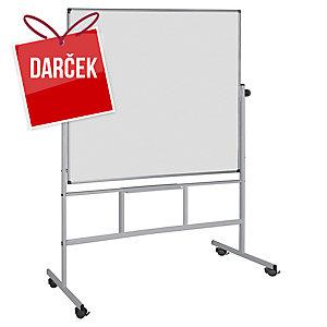 Biela tabuľa preklápacia obojstranná magnetická Bi-Office 120 x 150 cm