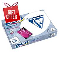 Clairefontaine DCP Paper A4 100gsm White - 1 Ream of 500 Sheets