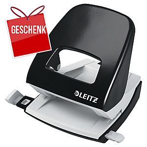 Locher Leitz 5008, Bürolocher, 30 Blatt, schwarz