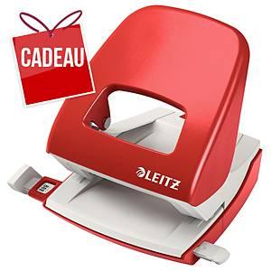 Perforatrice Leitz 5008, perforatrice de bureau, 30feuilles, rouge