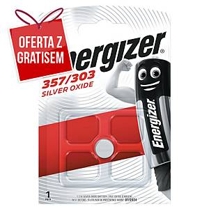Baterie zegarkowe ENERGIZER® 357/303 1,5V SR44/SR1154W, w opakowaniu 1 sztuka