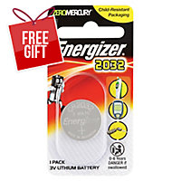 ENERGIZER LTIHIUM COIN CR2032 BATTERY - EACH