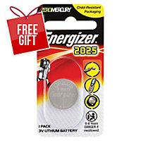 ENERGIZER LTIHIUM COIN CR2025 BATTERY - EACH