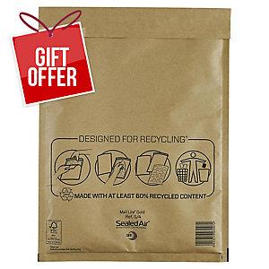 MAIL LITE GOLD POSTAL BAGS G4 240X330MM BOX OF 50