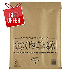 MAIL LITE GOLD POSTAL BAGS H5 270X360MM BOX OF 50