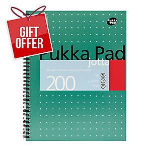 PUKKA WHITE A4 WIREBOUND PADS (RULED/MARGIN) - PACK OF 5 (5 X 100 SHEETS)