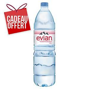 Eau Evian 1,5 L - carton de 12 bouteilles