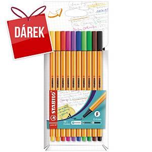 Liner Stabilo Point 88, mix barev, 10 ks/balení