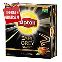 Herbata czarna LIPTON Earl Grey, 100 torebek