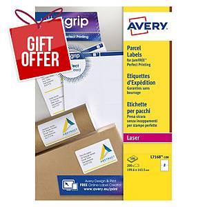 Avery L7168-100 Labels, 199.6 x 143.5 mm 2 Labels Per Sheet, 200 Labels Per Pack