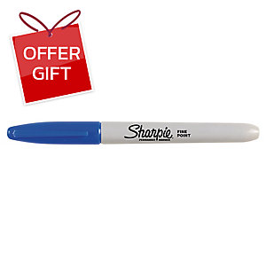 SHARPIE BULLET TIP BLUE PERMANENT MARKERS - BOX OF 12