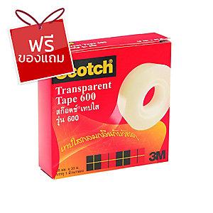 SCOTCH เทปใสรุ่น6003/4 นิ้วx36หลา แกน1 นิ้ว 1 ม้วน