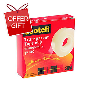 SCOTCH 600 CLEAR TAPE 3/4   X 36 YARDS 1   CORE