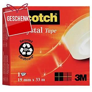 3M Scotch crystal clear Klebefilm 19 mm x 33 m