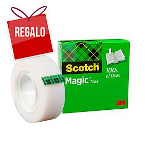 Cinta adhesiva invisible Scotch Magic - 19 mm x 33 m