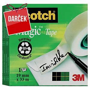 Neviditeľná lepiaca páska Scotch Magic 810, 19 mm x 33 m