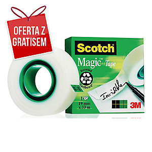 Taśma klejąca SCOTCH 810 Magic matowa, 19 mm x 33 m
