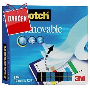 Odstrániteľná lepiaca páska Scotch Removable 811