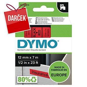 D1 páska Dymo čierno-červená 12 mm x 7 m