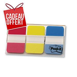 Lot de 3 paquets de 22 marque-pages Post-it onglets rigides rouge/jaune/bleu