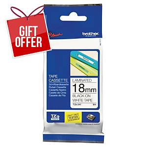 Brother P-Touch TZe Labelling Tape 8M X 18Mm - Black On White