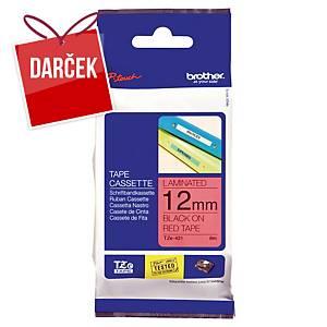 TZe-páska Brother čierno/červená 12 mm x 8 m