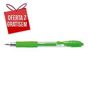 Automatyczny długopis żelowy PILOT G-2, zielony