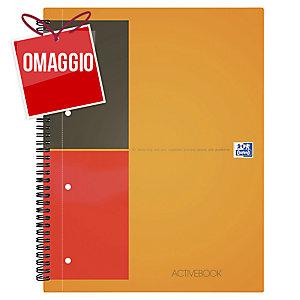 BLOCCO A SPIRALE INTERNATIONAL ACTIVEBOOK OXFORD A4+ A QUADRETTI 5MM GRIGIO