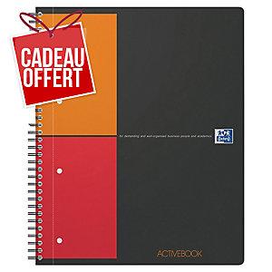 Cahier spirale Oxford Activebook A4+ - 160 pages - quadrillé