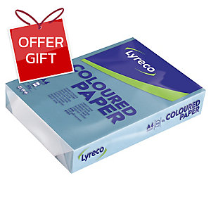 LYRECO BRIGHT COLOURED PAPER A4 80G  DARK BLUE - REAM OF 500 SHEETS
