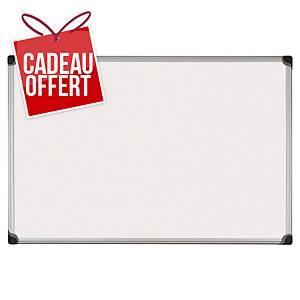 Tableau blanc émaillé Bi-Office Maya W - magnétique - 90 x 180 cm