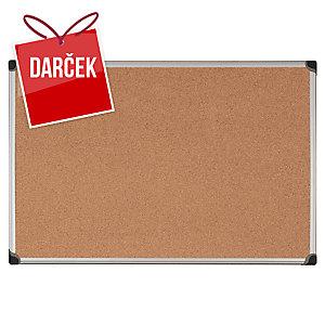 Korková tabuľa s hliníkovým rámom Bi-Office Maya, 90 x 120 cm