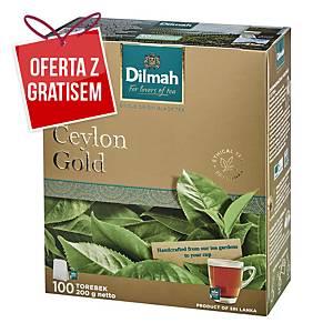 Herbata czarna DILMAH Ceylon Gold, 100 torebek