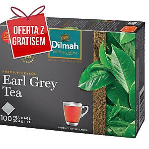 Herbata czarna DILMAH Earl Grey, 100 torebek